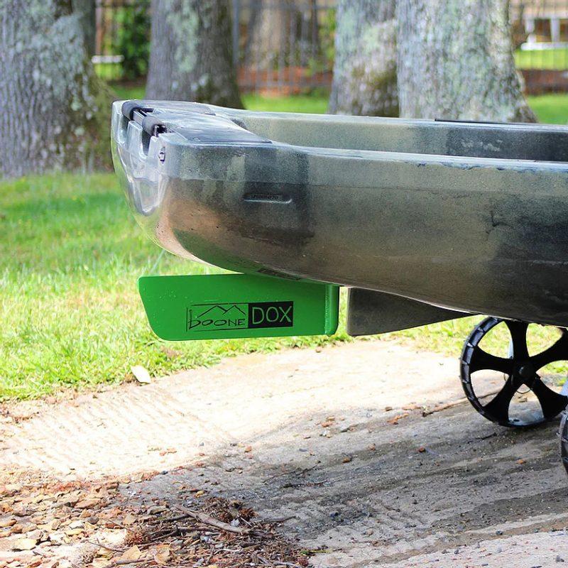 Native-Rudder-Lime-for-kayak-or-fishing-boat-installed-on-back-of-Kayak